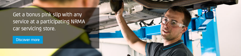 Get a bonus pink slip with any service at a participating NRMA car servicing store.