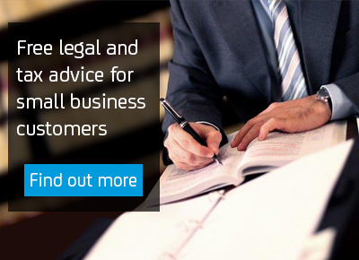 Free legal and tax advice for small business customers.