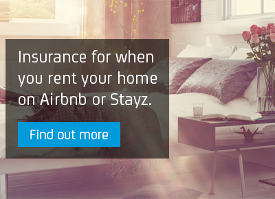 Insurance for when you rent your home on Airbnb or Stayz.
